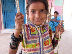 インドのカッチ地方の少女